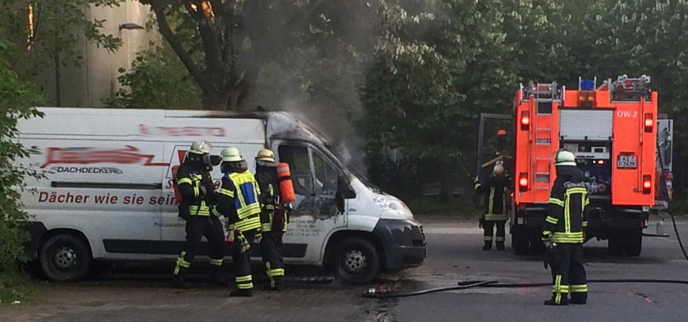 Feuer Sachschaden Auto ausgebrannt Kiel-Gaarden