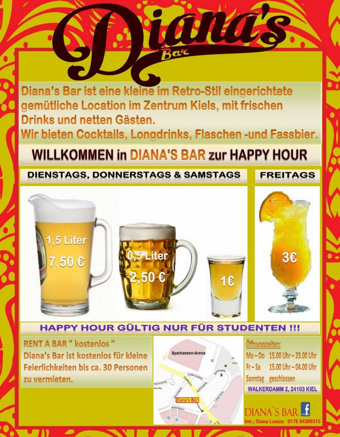 Rent a Bar - Diana´s Bar Kiel