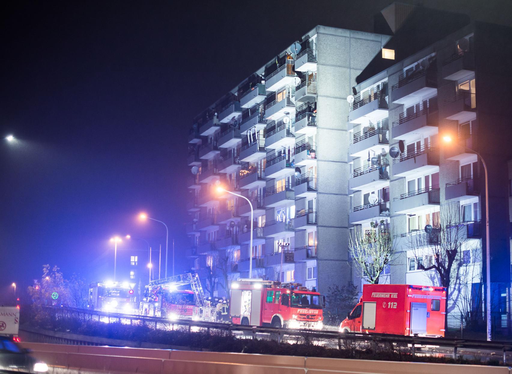 Feuer auf Balkon Kiel Bullenkloster