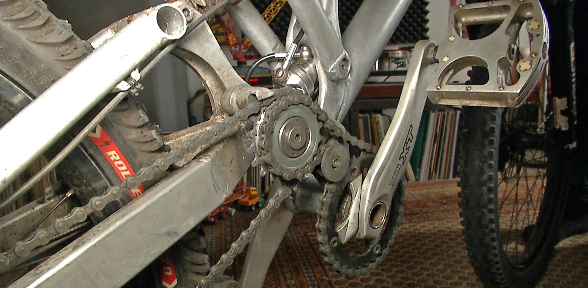 Hydraulische Geometrie-Verstellung Bike Kiel Erfindung