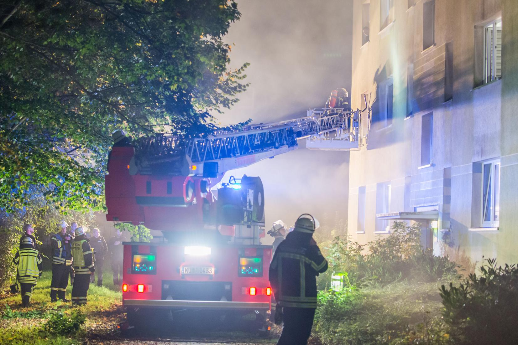 Kellerbrand Feuerwehr Wellingdorf