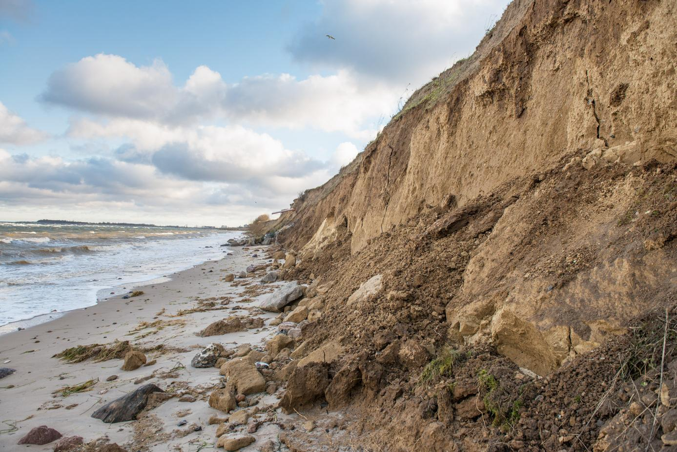 Sturmschäden in Stein und Laboe