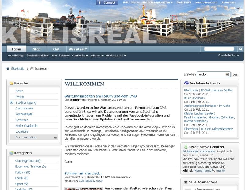 Wartungsarbeiten am KIELISREAL Forum