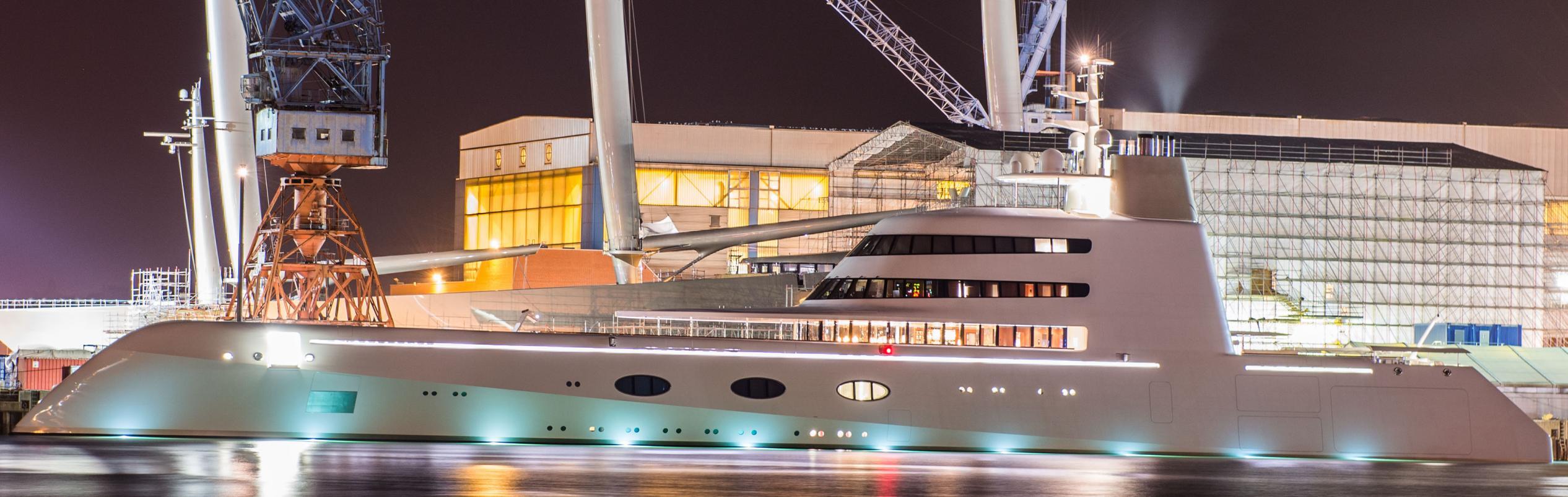 Yacht A zu Gast in Kiel
