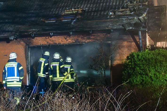 Feuer am Samstag in Kiel Schilksee